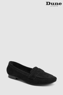 Dune Galer Ungefütterter Loafer aus Wildleder, schwarz