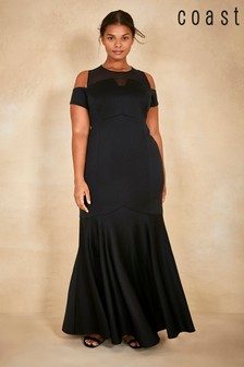 Coast Black Curve Lorna Fishtail Maxi Dress