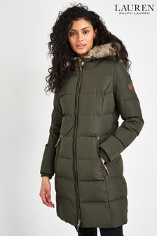 Lauren Ralph Lauren® Khaki Padded Down Coat