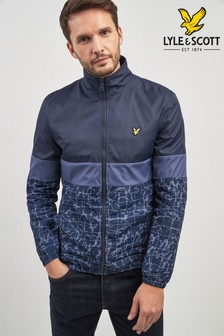 Lyle & Scott Navy Pool Print Jacket