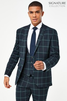 Tailored Fit Check Suit: Jacket
