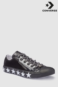 Converse Miley Cyrus Black Chuck All Star Ox Patent Trainer