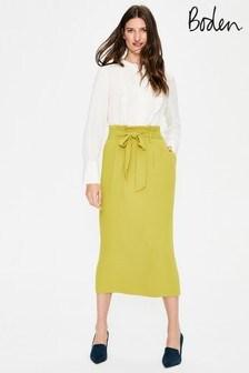 تنورة Melina Paperbag صفراء من Boden