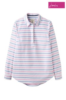 Joules White Clovelly Pullover Shirt
