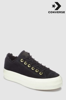 Converse Black Frill Chuck Lift Trainer
