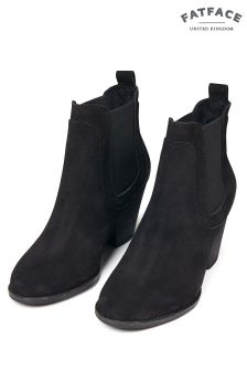FatFace Black Hazel Chelsea Heel Boot