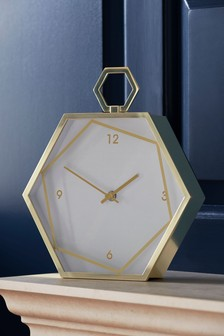Hexagon Mantle Clock