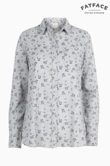 FatFace Grey Olivia Ditsy Print Shirt