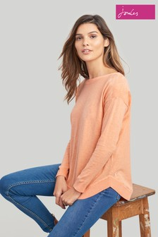 Joules Orange Kerry Slash Neck Jumper
