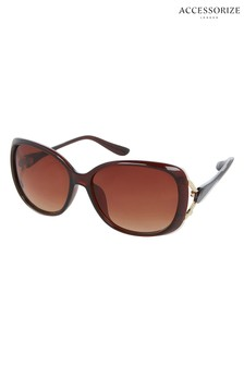 Accessorize Tort Rachel Wrap Sunglasses