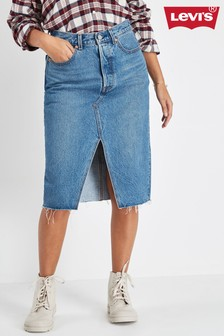 Levi's® Deconstructed Midi Denim Skirt In Vast Desert