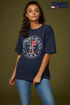 Tommy Jeans Blue Boyfriend Logo Tee