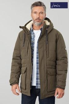 Joules Green Fernhurst Padded Waterproof Winter Jacket
