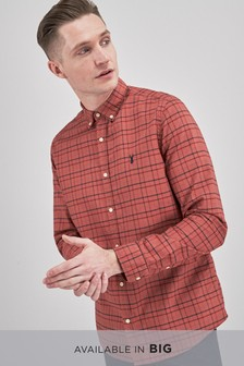Long Sleeve Over Dyed Check Shirt