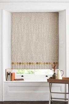 Allium Embroidered Roman Blind