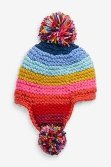條紋圓球帽 (大女孩)