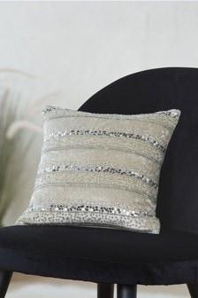 Beaded Stripe Cushion