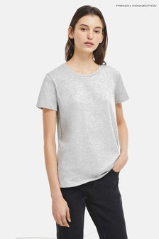 French Connection Grey Classic Crew Tee