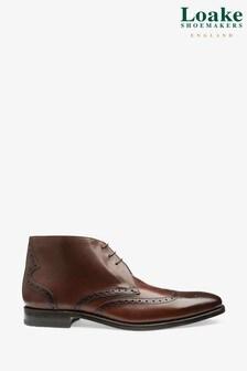 Loake Dark Brown Murdock Brogue Chukka Boots