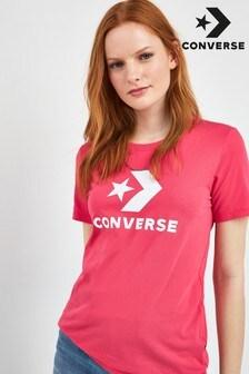 Converse Bright Pink Logo Tee