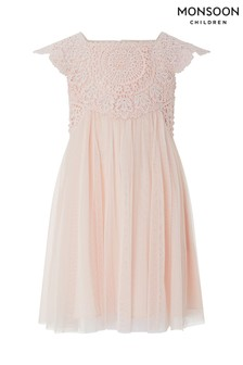 Monsoon Baby Pale Pink Estella Dress