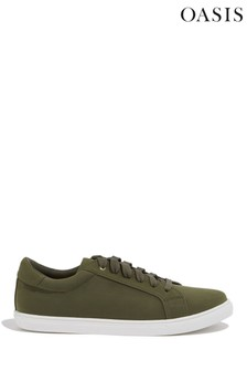 Oasis Green Lace-Up Trainer
