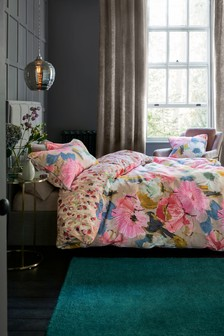Edinburgh Weavers Nikita Floral Duvet Cover and Pillowcase Set