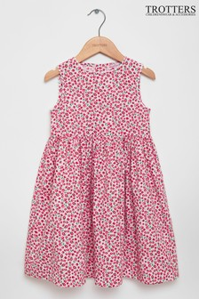 Trotters London Red Summer Fruits Ric Rac Dress