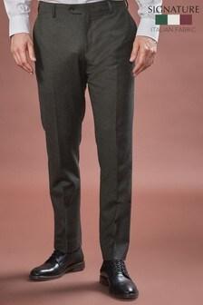 Barberis Flannel Suit: Trousers