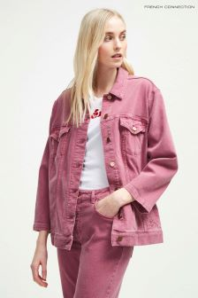 French Connection Pink Antique Dye Slouchy Western Jacket