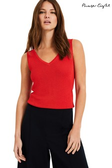 Phase Eight Red Kyla Knitted Vest
