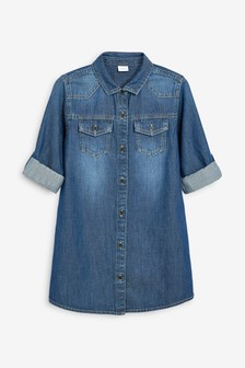 Longline Denim Shirt (3-16yrs)