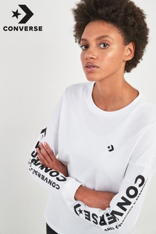 Converse White Logo Long Sleeve Tee