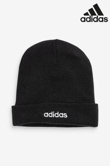 Черная шапка-бини с логотипом adidas