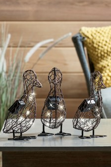 Set of 3 Solar LED Duckling Objet
