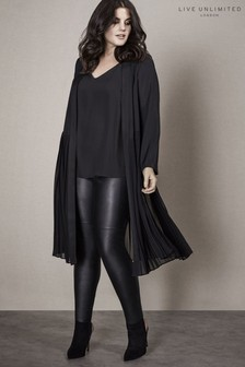 Live Unlimited Black Pleat Back Jacket