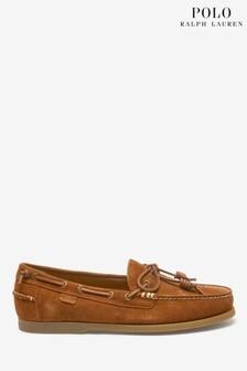 Polo Ralph Lauren Tan Suede Millard Boat Shoe