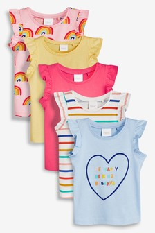 Vests Five Pack (3mths-7yrs)