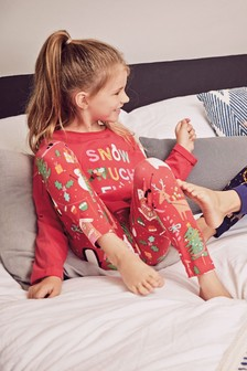 Christmas Slogan Leggings Pyjamas (3-16yrs)