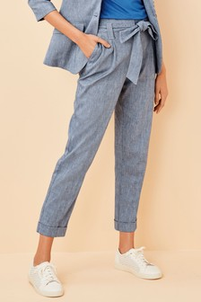 Cotton Linen Blend Trousers