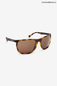 Emporio Armani Tortoiseshell Rectangle Sunglasses
