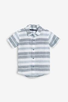 Short Sleeved Linen Blend Shirt (3mths-7yrs)