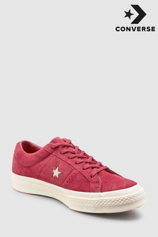 Converse Red Stitch One Star Trainer
