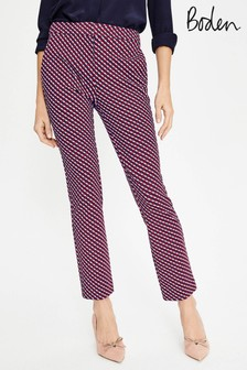 Boden Red Hampshire 7/8 Trouser