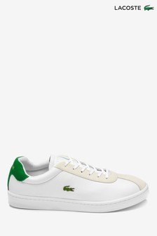 Lacoste® Masters 119 White and Green Trainer