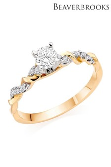 Beaverbrooks 18ct Gold Diamond Ring