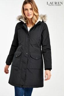 Lauren Ralph Lauren® Black Arctic Parka Coat