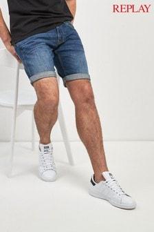 Replay® Anbass Slim Fit Denim Short