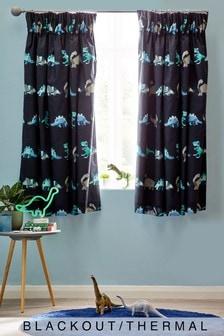 Geometric Dinosaur Curtains