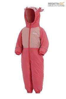 Regatta Pink Waterproof Mudplay Suit
